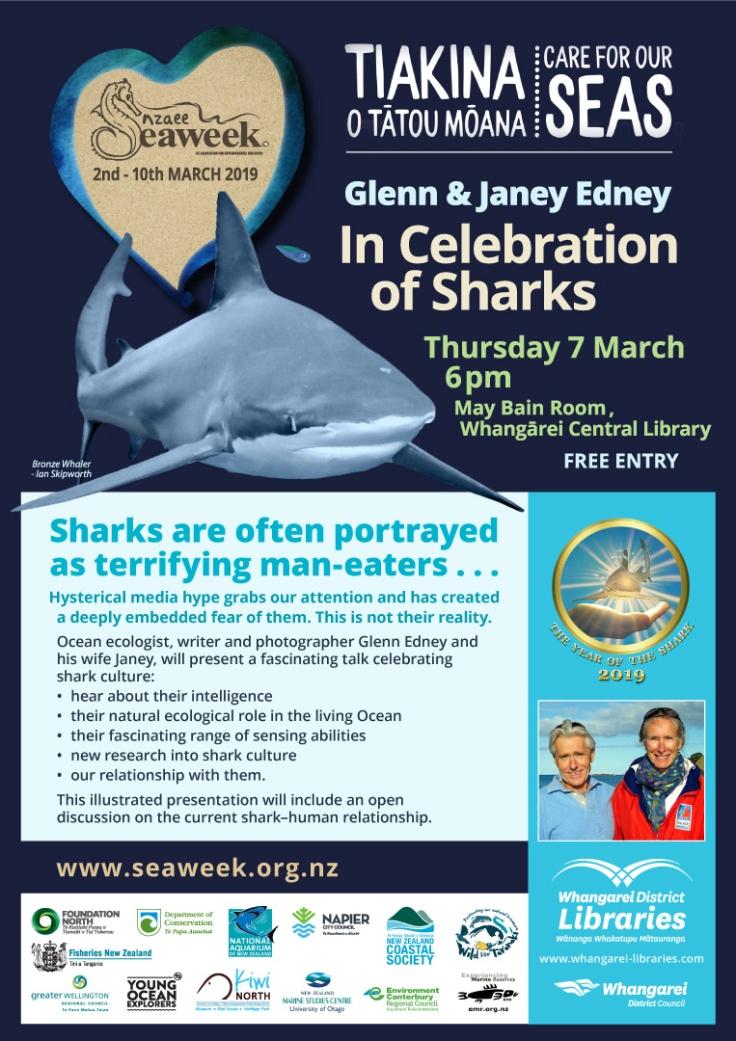 Seaweek Library Talk poster